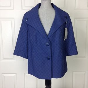 Classiques Entier Blue Slate Jacket/Blazer SZ 14W